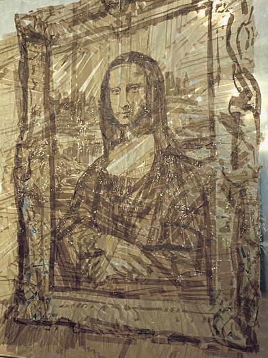 Джоконда. 1999 Скотч на пластике. Автор: Валерий Кошляков.