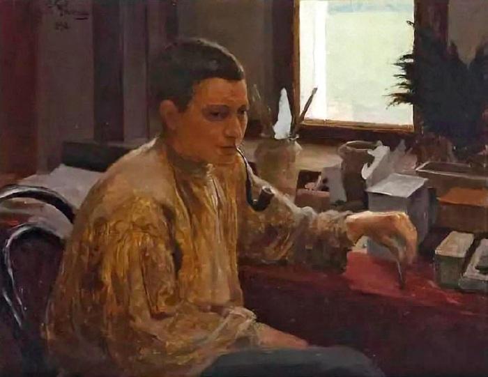 Портрет Надежды Репиной. (1896 год). Автор: Ю.И. РЕПИН.