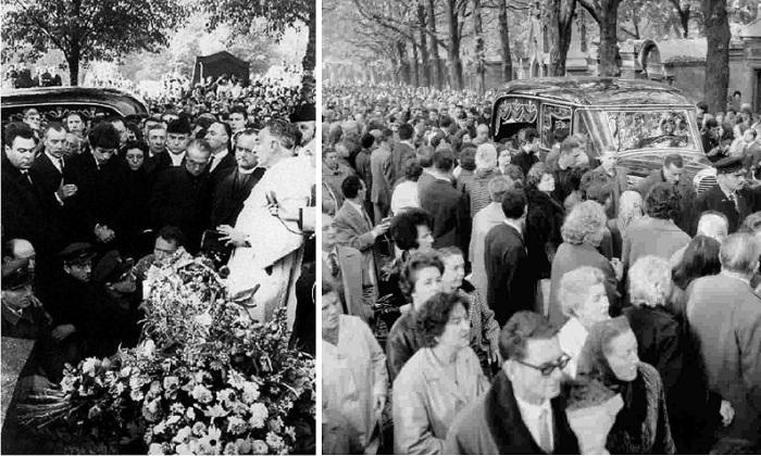 Погребение Эдит Пиаф. / Франция провожает своего воробышка.  / Фото: Rexfeatures.com