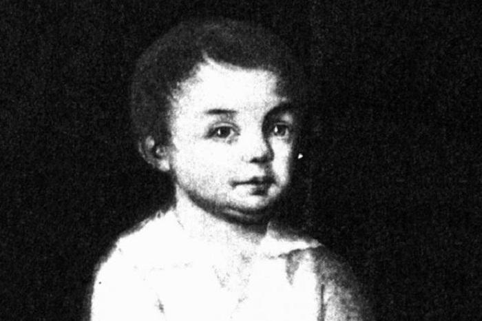 Михаил Салтыков в детстве.