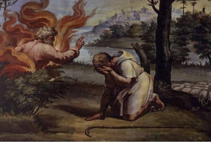«Истории Моисея». Неопалимая купина.
