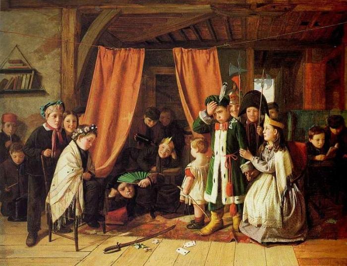 Чарльз Хант (1803-1877). Англия. Сцена в Гамлете. 1868 год.