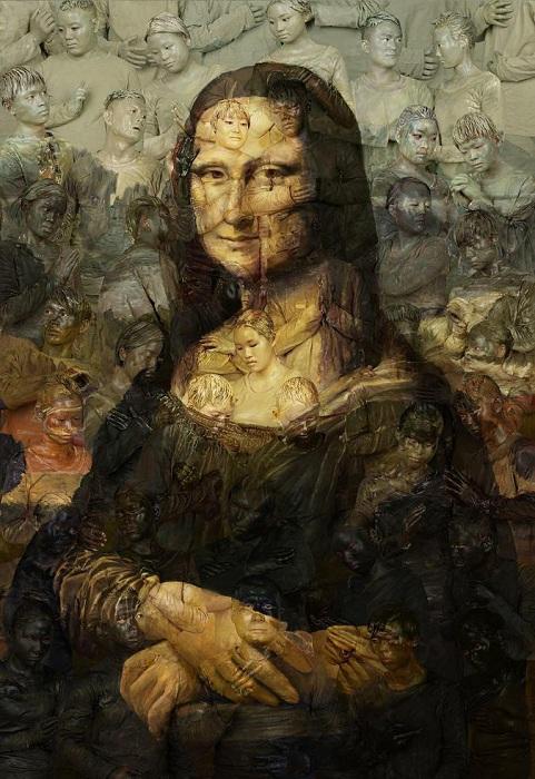 Имитация полотна «Мона Лиза» Леонардо да Винчи.