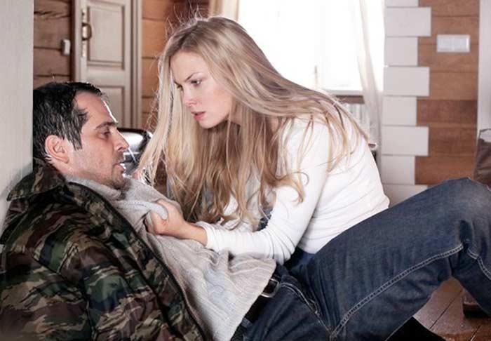 Павел Делонг и Татьяна<br>Арнтгольц в сериале *Брак по завещанию. Возвращение Сандры*.