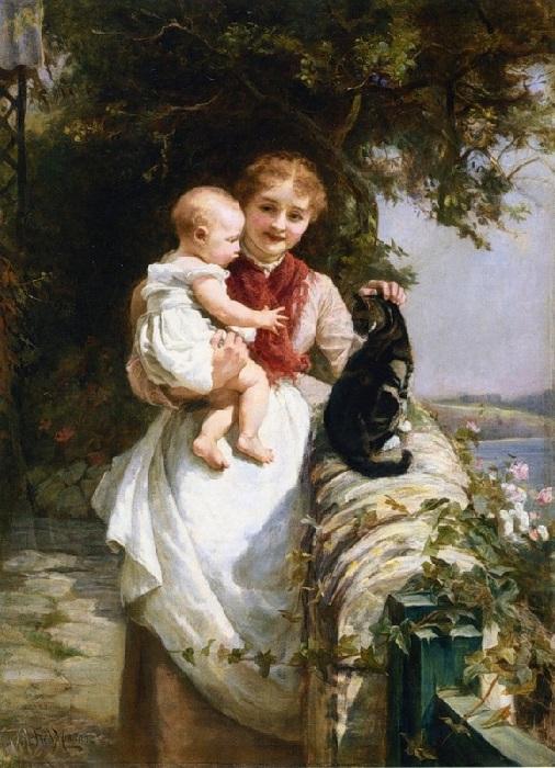 Материнская любовь. Автор: Фредерик Морган.