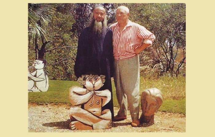 Чжан Дацянь и Пабло Пикассо. | Фото: etest.tripod.com