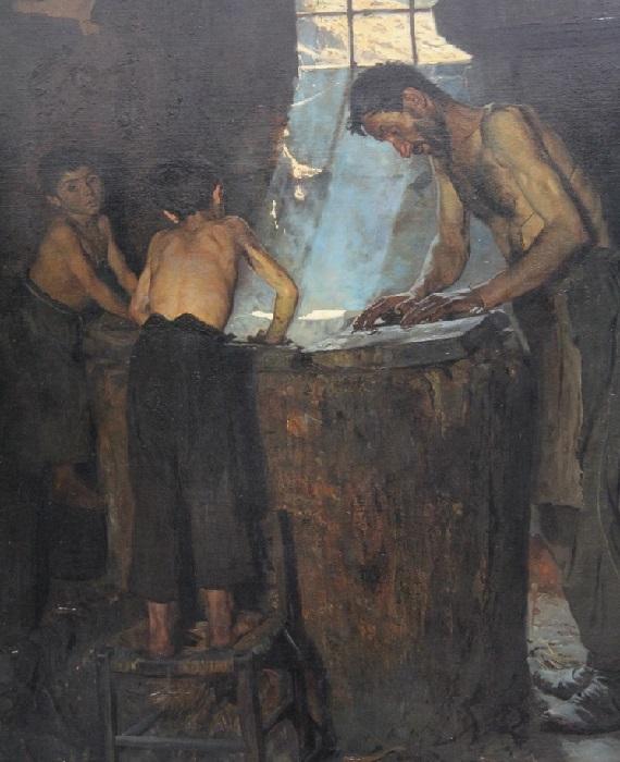 «Итальянские деревенские шляпники». Автор: Педер Северин Крёйер.