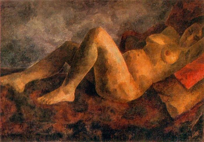Обнаженная (лежащая), (1922г.). Автор: Роберт Рафаилович Фальк.