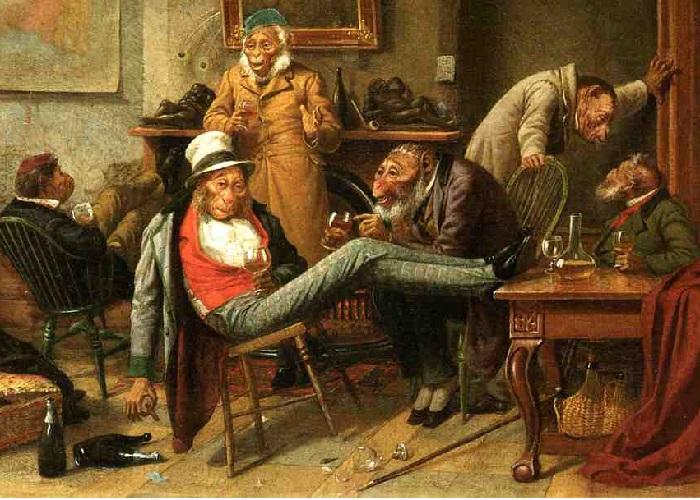 Преадамит.(1874 год). Художник: William Holbrook Beard.