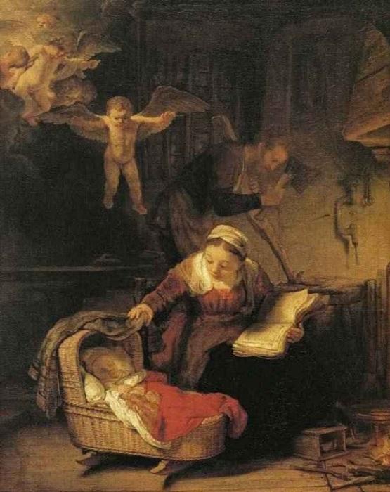 Святое семейство. Автор: Рембрандт Харменс ван Рейн.