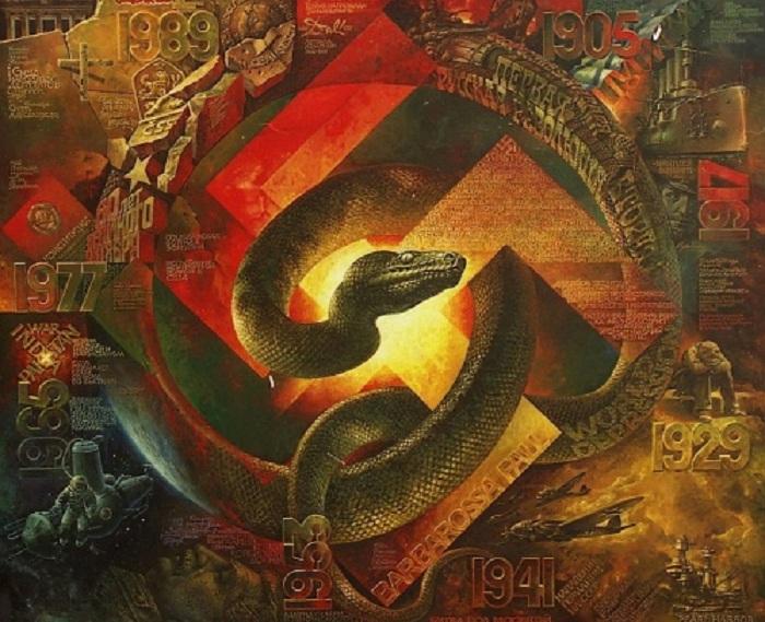 Из серии «Восточный календарь».  Цикл «Век». Год змеи. Автор: В.Коваль.