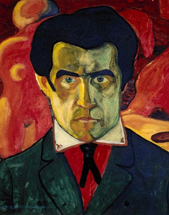 Автопортрет. (Около 1910). Государственная Третьяковская галерея. Автор: Казимир Малевич