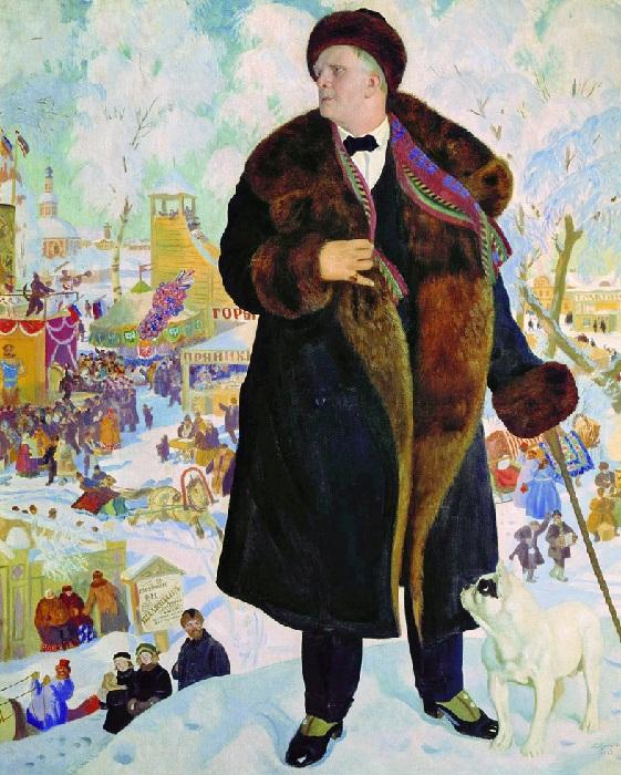 Портрет Федора Шаляпина. Автор: Борис Кустодиев.