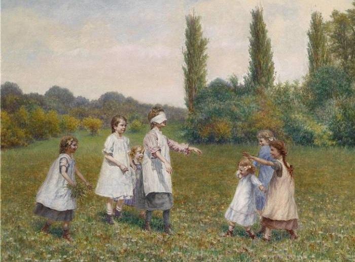 Карл Массманн (австриец, 1859 - 1929). Детские игры.