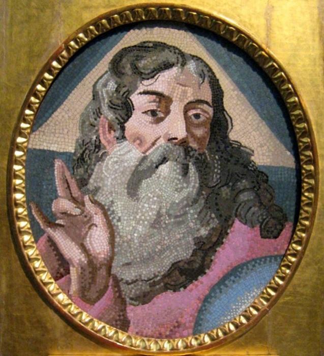 Мозаичная икона работы Ломоносова.