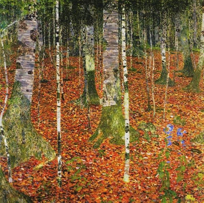 Берёзовая роща. Автор: Gustav Klimt.