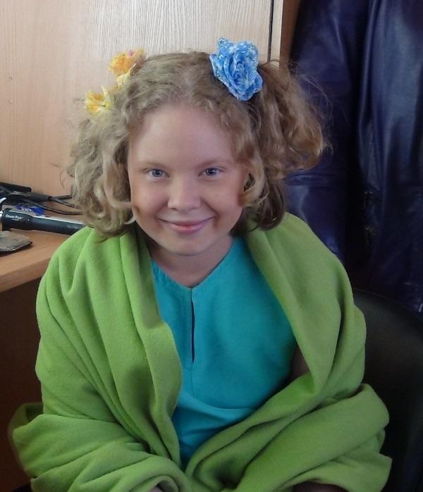 Настя Добрынина в подростковом возрасте.