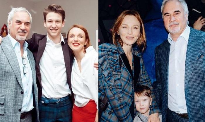Валерий и Альбина с сыновьями - Константином и Лукой.