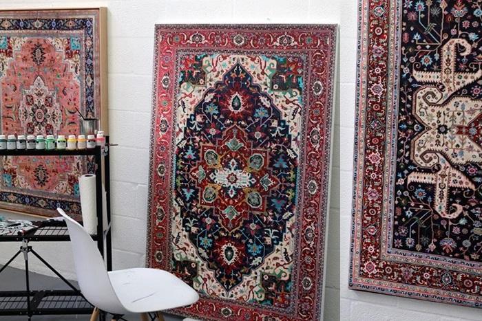 В мастерской художника. Персидские ковры на живописных полотнах Джейсона Сейфи.