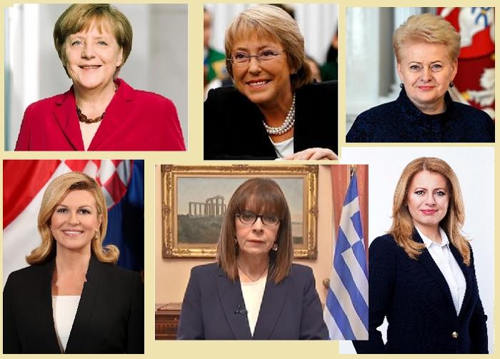 Ангела Меркель,  Мишель Бачелет, Даля Грибаускайте, Колинда Грабар-Китарович, Катерина Сакелларопулу, Зузана Чапутова.