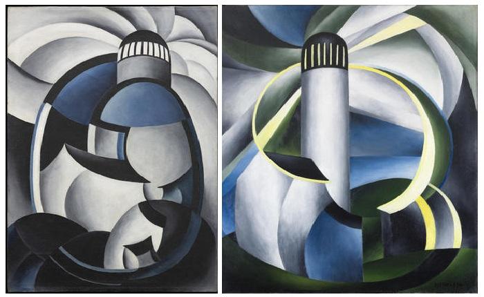 Ида О'Кифф, «Вариация на тему маяков II» (1931-32) / «Вариация на тему маяков IV» (1931-32).