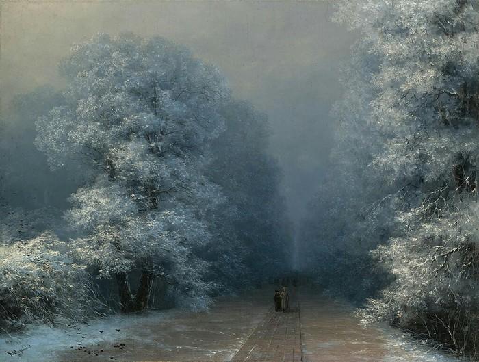 Зимний пейзаж. (1876). Автор. И.К.Айвазовский.