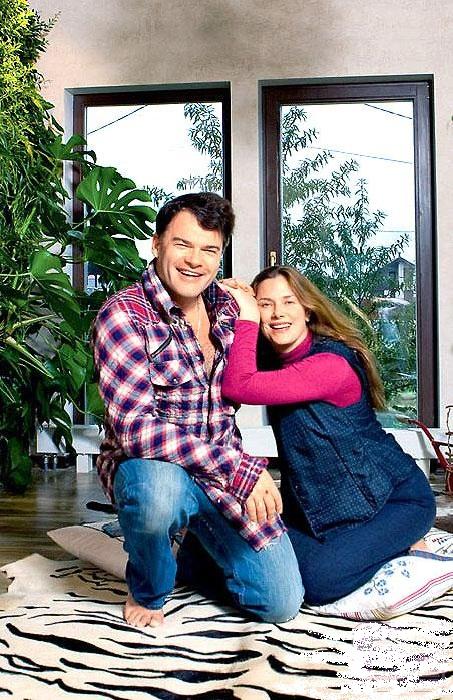 «Мой дом – моя крепость». Евгений Дятлов с женой Юлией Джербиновой.