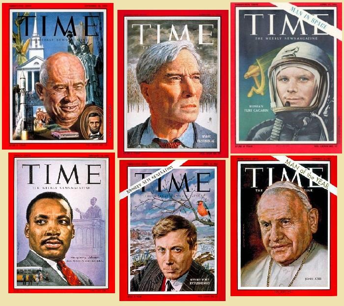 Обложки журнала Time, созданные Борисом Шаляпиным.