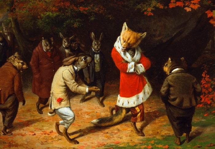 Его Величество. (1885 год). Холст, масло. Художник: William Holbrook Beard.