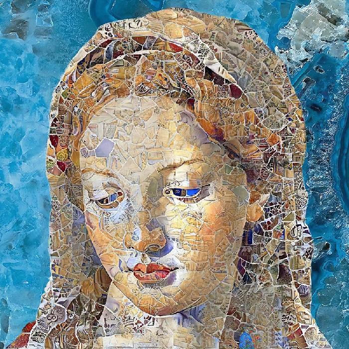 Мадонна. Цифровые мозаики от Бруно Чербони.