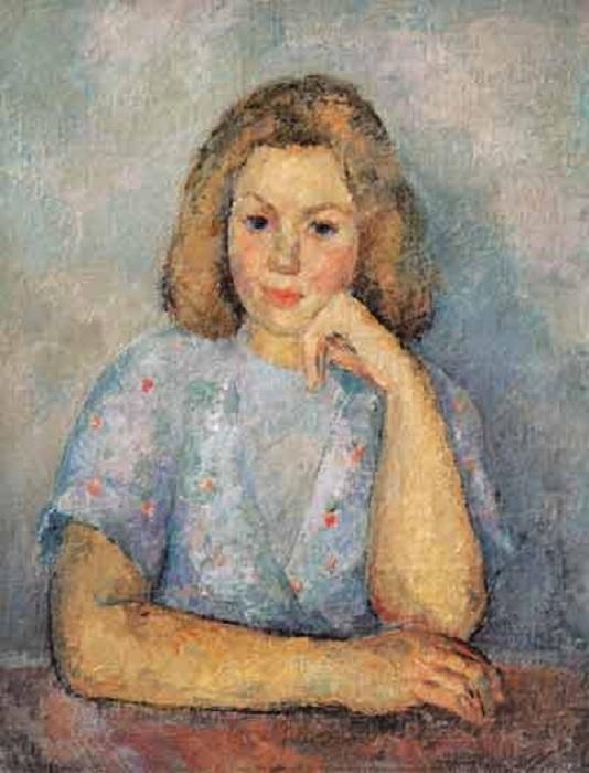 Портрет дочери Кириллы Фальк. (1946 г.).