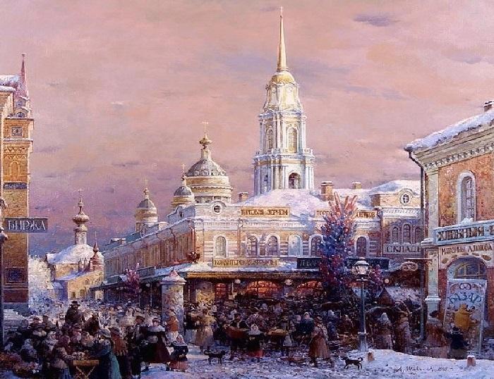 Рыбинск. Ярмарка. Автор: Александр Шевелев.