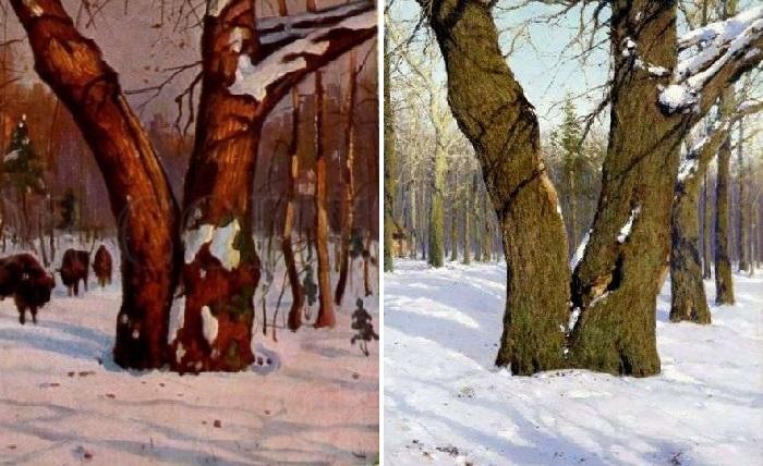 Фрагменты полотен Бровара и Крыжицкого.
