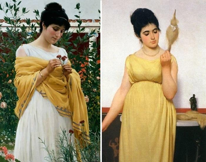 Беседка (1885 год)./ Веретено. (1887 год). Художник: Рафаэлло Сорби.