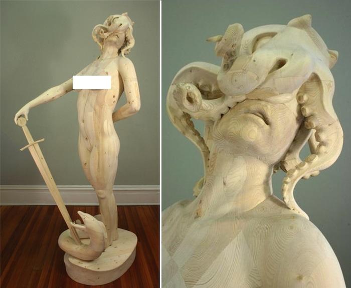 Сюрреалистические деревянные скульптуры от Моргана Эррена.