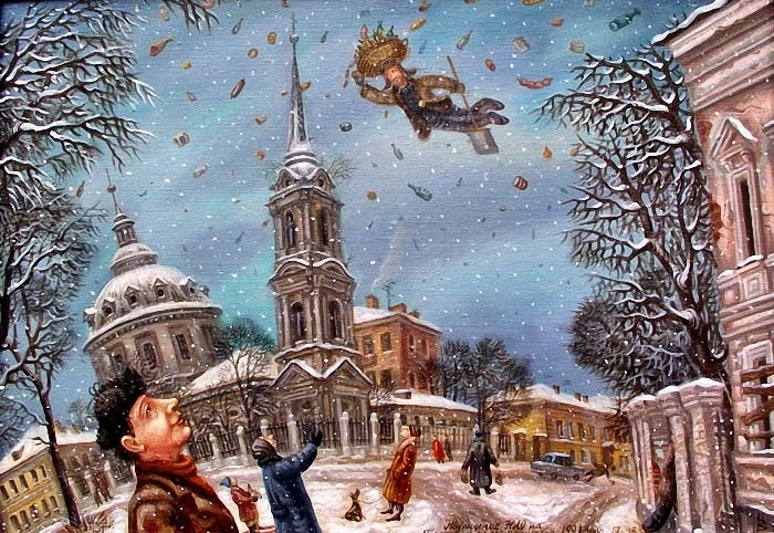 Наблюдение НЛО на Гороховом поле. Автор: Сергей Волков.