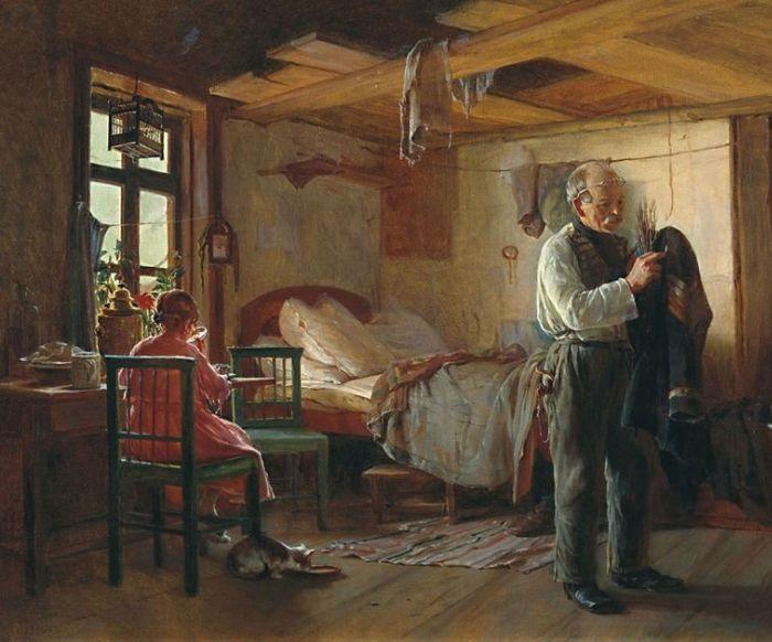Кирилл Лемох, Утро в швейцарской, 1874г.