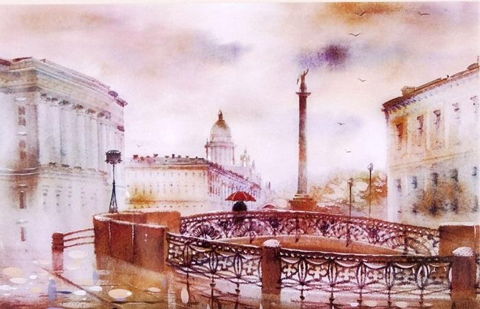 Набережная реки Мойки.Санкт-Петербург. Из цикла: Питерские пейзажи Светланы и Сабира Гаджиевых.