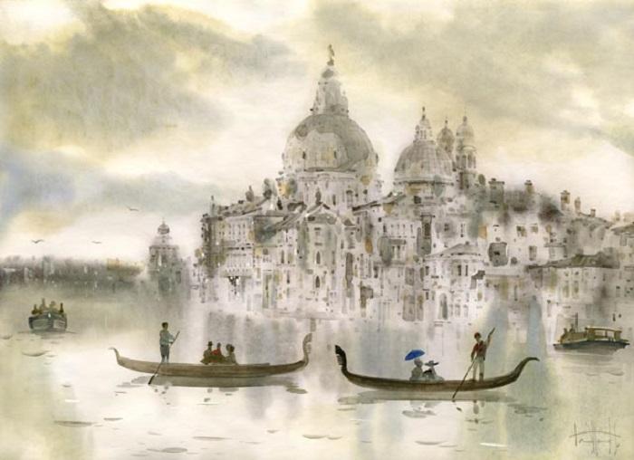 Венеция. Городской пейзаж от Светланы и Сабира Гаджиевых.