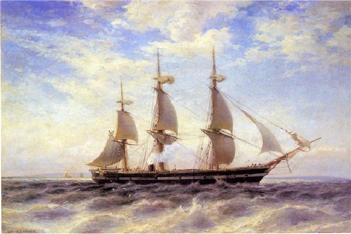 «Винтовой фрегат «Светлана»», (1878) — Центральный военно-морской музей. Автор: Александр Беггров.