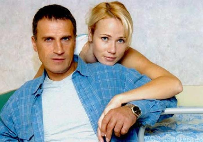 С женой Светланой.