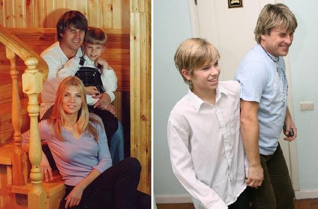 Алексей Глызин с женой и сыном Игорем.