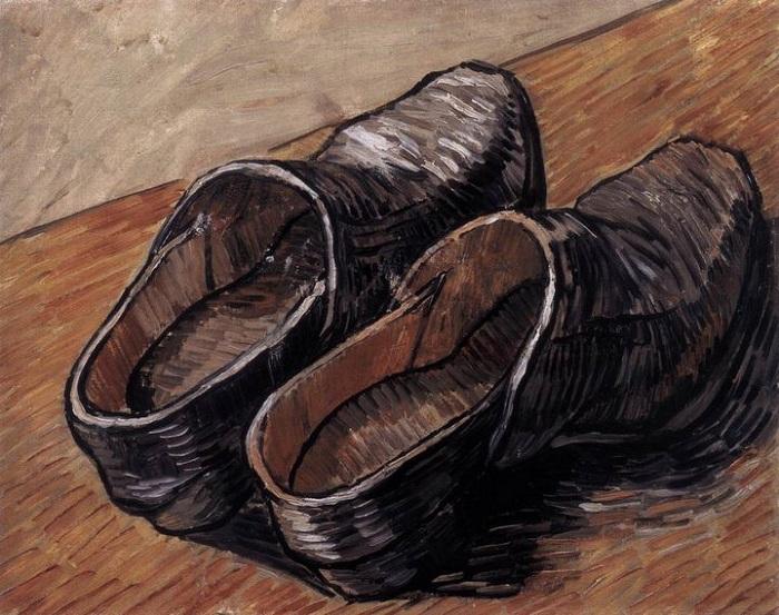Пара кожаных сабо. (1888г.)  Холст, масло. (32.5 x 40.5). Музей Винсента Ван Гога. Амстердам. Автор: Винсент Ван Гог.