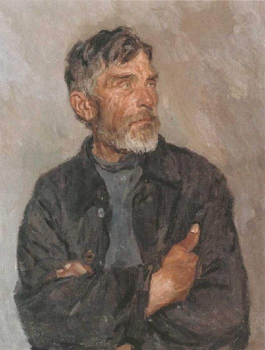 «Василий Павлович Гундоров». (1949-1950 г.г.) Автор: А.А.Пластов.