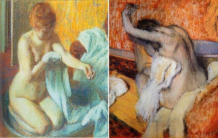 Пастельная живопись Эдгара Дега в жанре «ню».