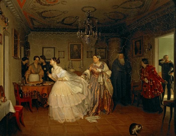 Павел Федотов. Сватовство майора. 1848–1849. Государственная Третьяковская галерея.
