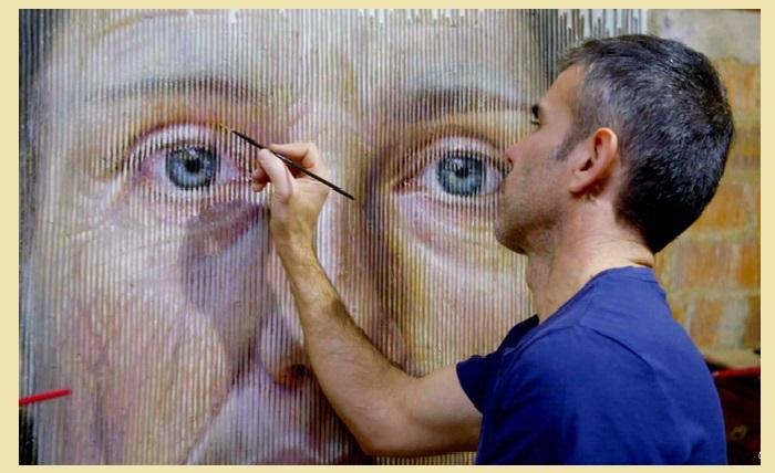 Художник-самоучка Серджи Каденас за работой. | Фото: realsworld.com.