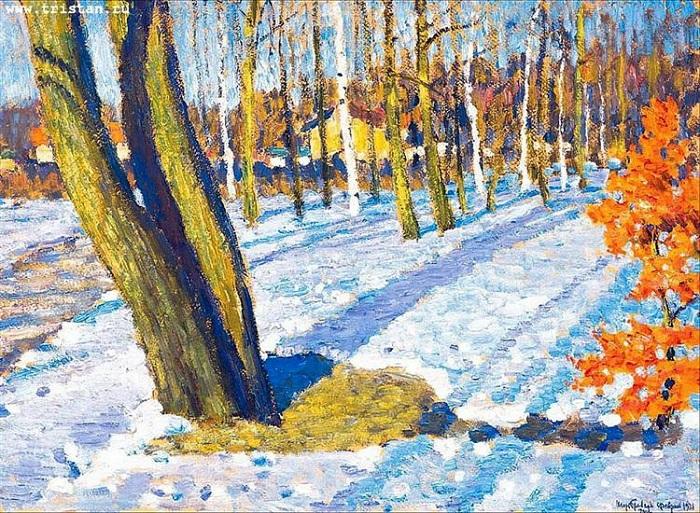 Мартовский снег, 1921 год. Автор: Игорь Грабарь.