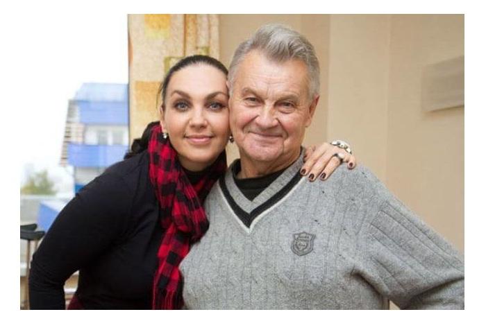 Светлана с отцом.