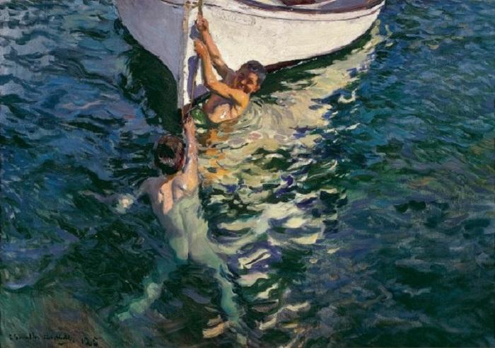 «Белая лодка». Автор: Хоакин Соролья-и-Бастида.